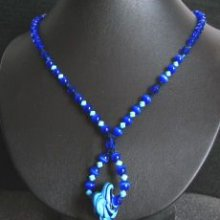Collier Spirales bleu turquoise