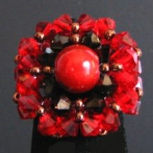 Bague Trinity rouge