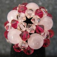 Bague Vanua quartz rose
